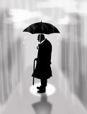 Loneliness, rain Stock Photos