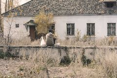 Loneliness. The season is autumn. royalty free stock images