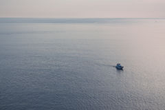 Loneliness speedboat in sea Royalty Free Stock Photo
