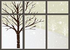 Loneliness In Winter. Vector of loneliness in winter Stock Photo