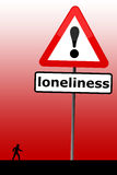 Lonely. Helping out someone with feelings of loneliness and despair Royalty Free Stock Photo