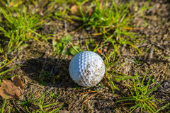 Lonely abandoned golf ball Royalty Free Stock Photo