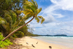 Lonely abandoned tropical beach. Thailand authorities police toughens visa regime, Many foreigners living in country, gone home / Lonely abandoned tropical beach stock images