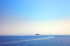 Lonely Adriatic island in the distance Royalty Free Stock Photos