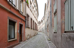 Lonely alley in the old town in Strasbourg, Stock Image
