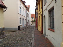 Lonely alley. Wismar, Germany 2014 Stock Photo
