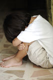 Lonely alone kid. Abused child Royalty Free Stock Image