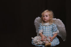 Lonely angel stock image