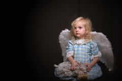 Lonely angel Stock Images