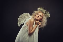 Lonely angel Stock Photography