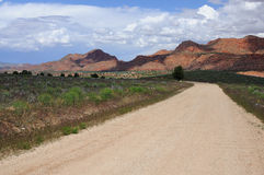 Lonely  Arizona road Stock Image