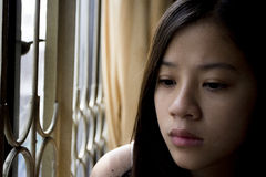 Lonely asian girl Stock Photography