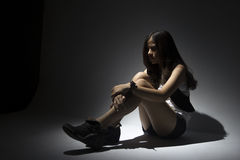 Lonely asian teenager Stock Images