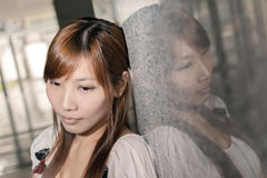 Lonely Asian woman Royalty Free Stock Photography