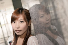 Lonely Asian woman Stock Photos