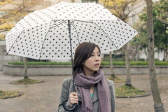 Lonely Asian woman Royalty Free Stock Photos