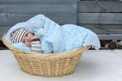 Lonely baby royalty free stock photos