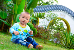 Lonely baby(Asia, China, Chinese) Stock Photos