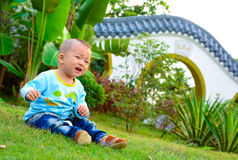 Lonely baby(Asia, China, Chinese) Royalty Free Stock Photography