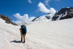 Lonely Backpacker Tourist Royalty Free Stock Image