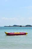 Lonely banana boat Stock Images