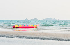 Lonely banana boat Stock Photos