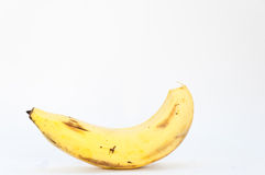 Lonely banana on white background Stock Photos