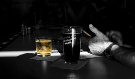 Lonely at the Bar Stock Photography