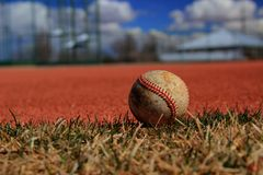 Lonely Baseball Royalty Free Stock Photo