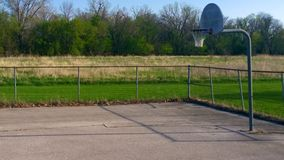 Lonely Basketball Court Royalty Free Stock Images