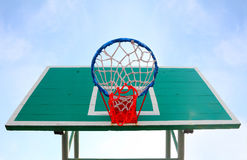 Lonely basketball hoop. Stock Photos