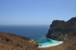 Lonely bay. A lonely bay near the Omani city Salalah stock photos