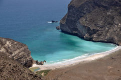 Lonely bay. A lonely bay near the Omani city Salalah stock photo