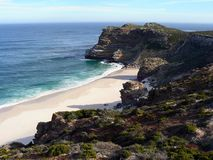Lonely Beach. Diaz Beach and Cape Maclear near the Cape of Good Hope and Cape Point, Cape Town, South Africa Stock Image