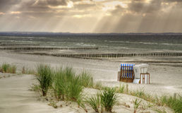 Lonely Beach. Schwarzer Busch at island Poel (Mecklenburg-Vorpommern, Germany stock image