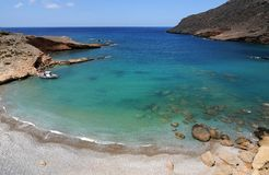 Lonely beach. In East Crete Greece stock photo