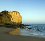 Lonely beach, Algarve, Portugal Stock Photos