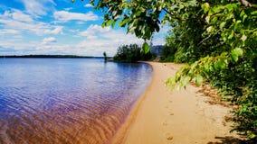 Lonely beach. stock image