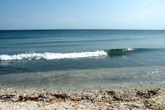 Lonely beach of the Black Sea 3. Wild beach on the Black Sea. Black Sea at the mouth of the Danube into the sea royalty free stock photos