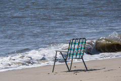 Lonely Beach Chair Royalty Free Stock Photo