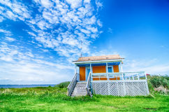 Lonely beach hut Royalty Free Stock Photo