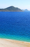 Lonely beach, Mediterranean coast Stock Image