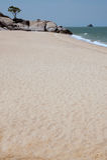 Lonely beach near Khao Tao beach. Royalty Free Stock Images