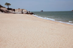 Lonely beach near Khao Tao beach. Royalty Free Stock Photography