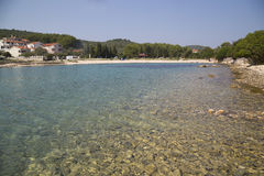 Lonely beach off-season Royalty Free Stock Photo