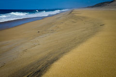 Lonely beach, Portugal Stock Photography