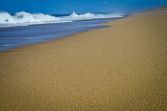 Lonely beach, Portugal Royalty Free Stock Photos