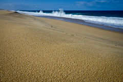 Lonely beach, Portugal Stock Images
