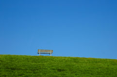 Lonely bench Stock Photo