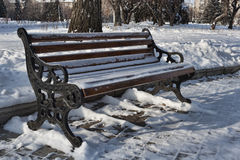A lonely bench Stock Photos